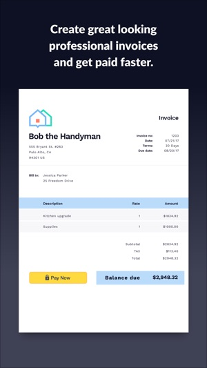 Invoice Go Invoice Estimate On The App Store - Free invoice and estimate software app store online