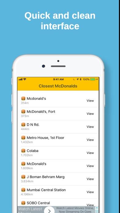 Closest McDonalds screenshot two