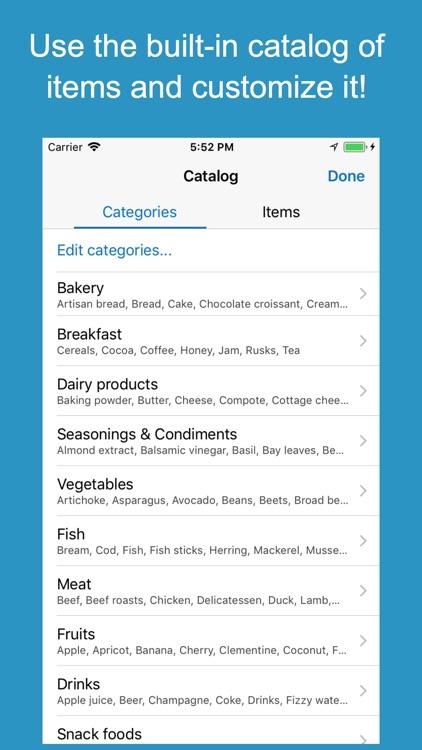 Shoppylist Pro (Grocery List) screenshot-3
