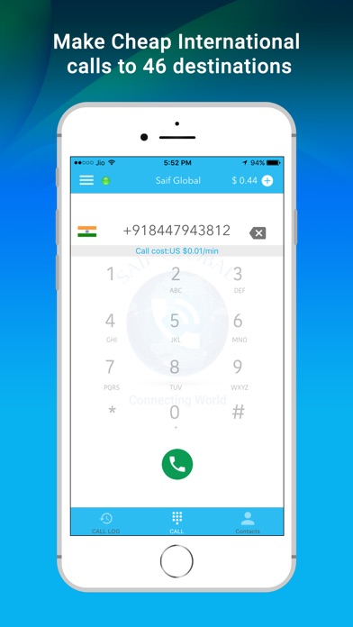 Saif Global - Cheap International VOIP Calls screenshot