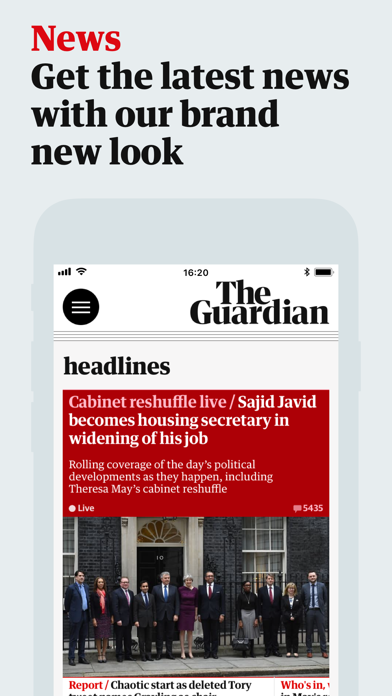 Screenshot 0 for The Guardian's iPhone app'