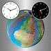 地球仪之城市时钟