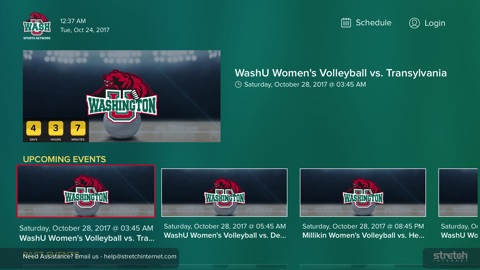 Screenshot #2 for WashU Sports Network