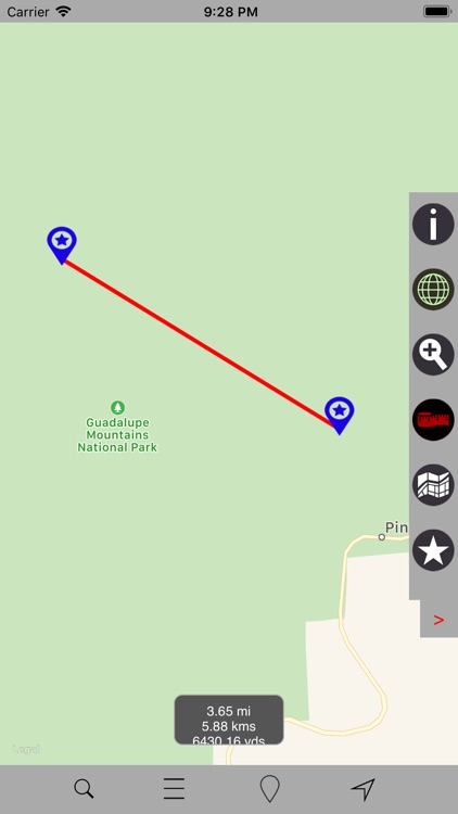 Guadalupe Mountains N Park GPS screenshot-4