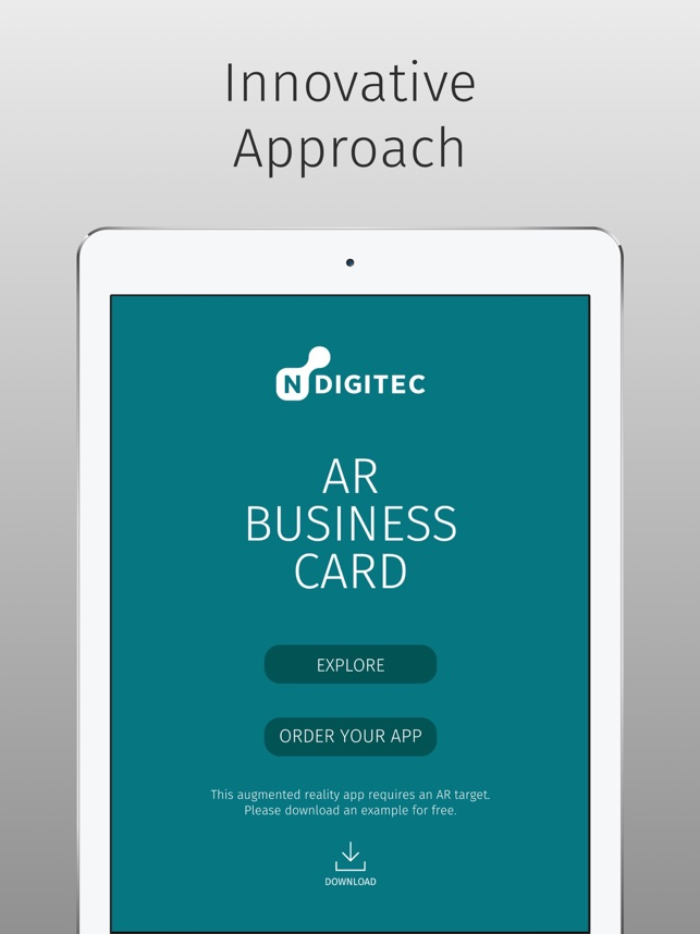 NDIGITEC AR Business Card on the App Store
