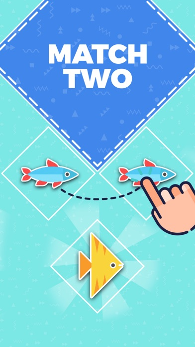 Go Merge Fish! Terrarium Game screenshot one