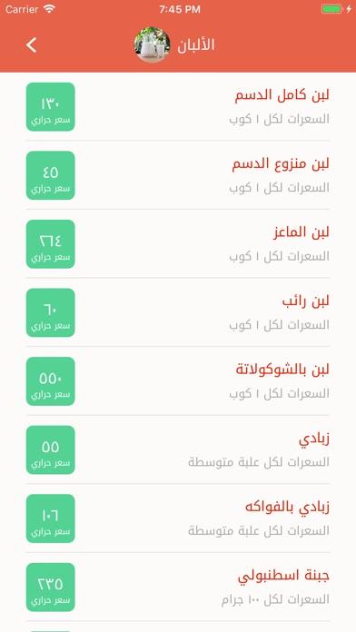 Screenshot for جدول السعرات الحرارية in Lebanon App Store