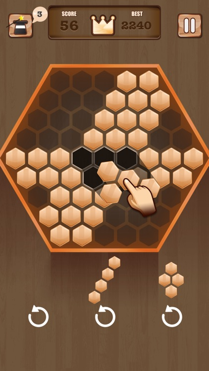 Wooden 100 Block - Hexa Puzzle Logic Mania screenshot-3