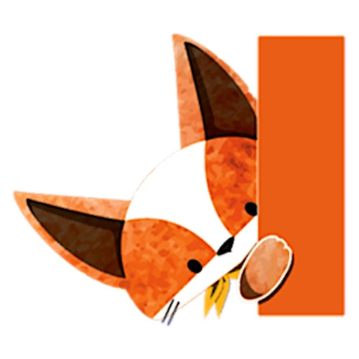 Adorable Fox FoxMoji Sticker