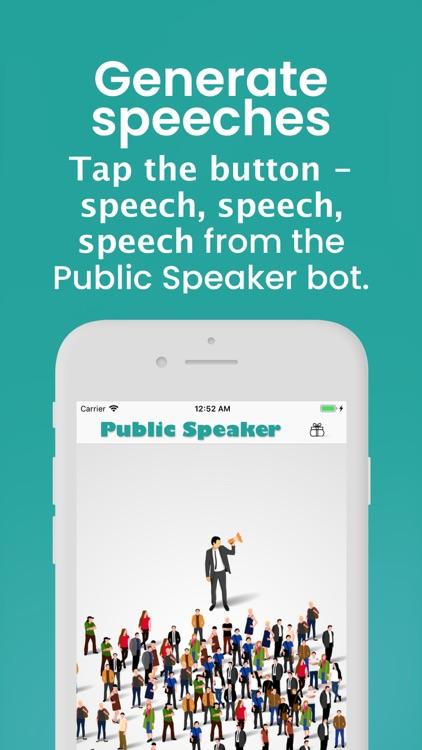 Public Speaker Creative bot screenshot-0