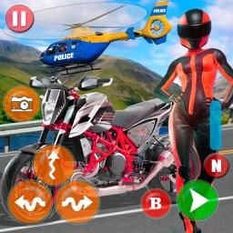 Trial Bike VS Police Heli