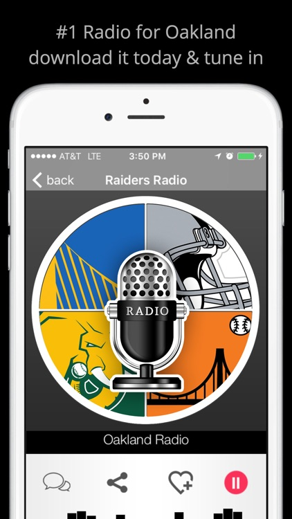 Oakland GameDay Radio - Raiders Warriors A's screenshot-1