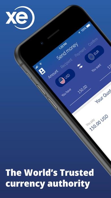 Screenshot 1 For Xe Money Transfer