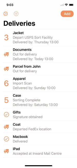 parcel delivery tracking on the app store. Black Bedroom Furniture Sets. Home Design Ideas