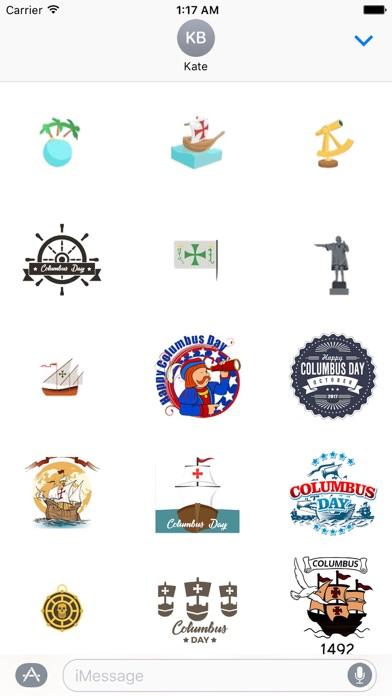 Happy Columbus Day Sticker screenshot 2