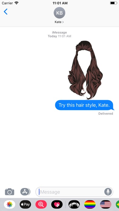 Screenshot for Hair-The Stylish Sticker Pack in United States App Store