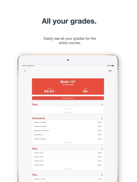 grade pal 1 grade tracker app price drops
