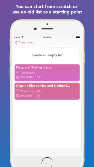 ‎Whay: Shopping List Screenshot