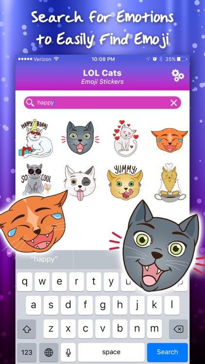 LOL Cats Emoji Stickers screenshot-3