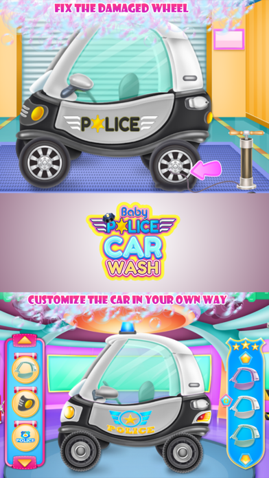 Baby Police Car Wash Screenshot