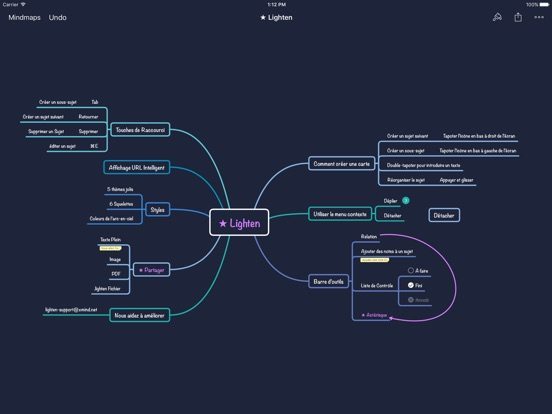 Screenshot #6 pour Lighten: Mind Mapping by XMind