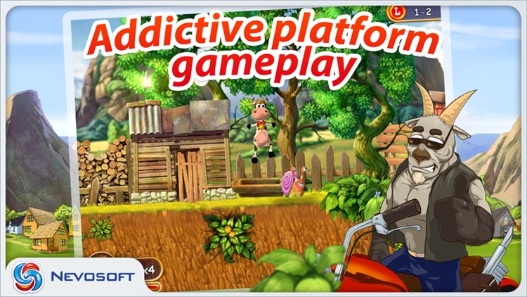 Supercow: funny farm arcade platformer screenshot-0