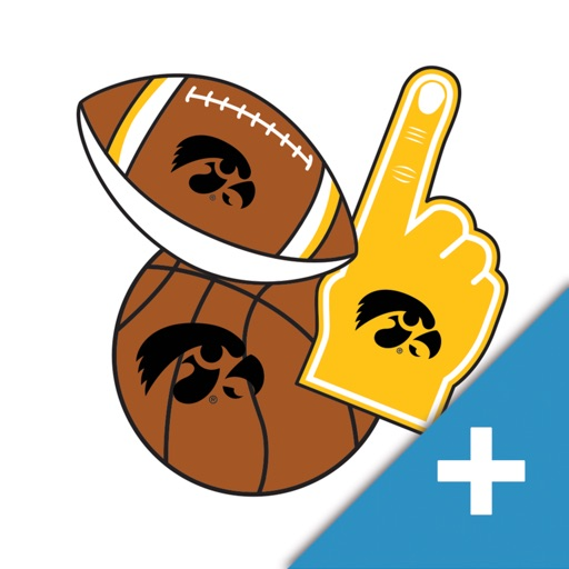 Iowa Hawkeyes PLUS Selfie Stickers