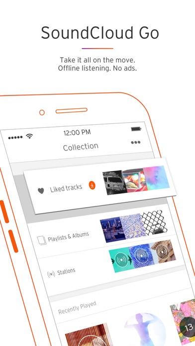 Screenshot 2 for SoundCloud's iPhone app'