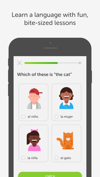 Screenshot 1 for Duolingo's iPhone app'