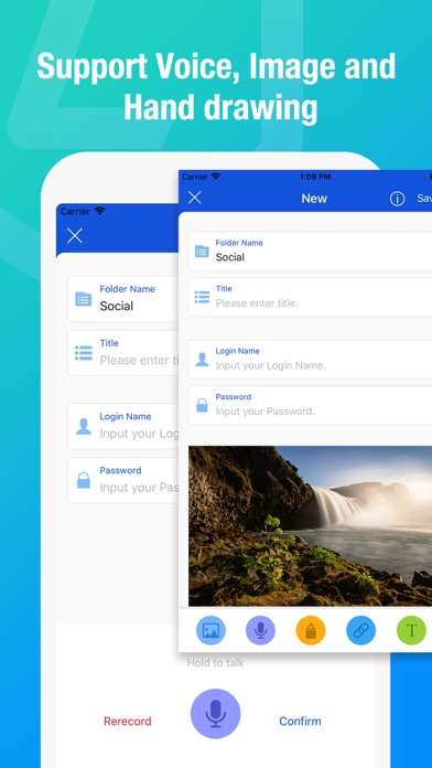 Locker Pro - パスワード、図面、写真、録音管理 ScreenShot0