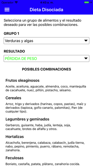 cacahuetes en dieta disociada