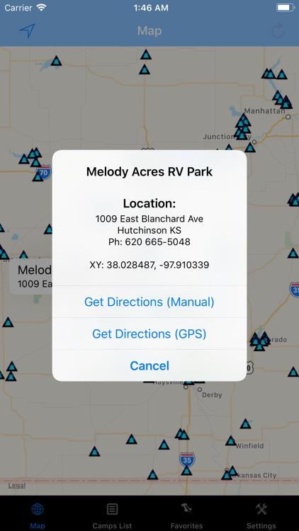 Kansas – Camping & RV spots
