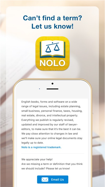 Nolo's English Law Dictionary screenshot-4