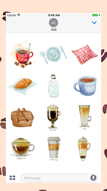 Coffee Stickers Pack for iMessage screenshot-0