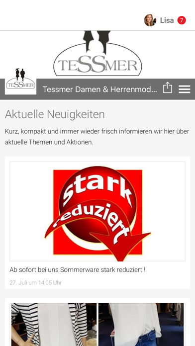 Tessmer Damen & Herrenmoden screenshot 1