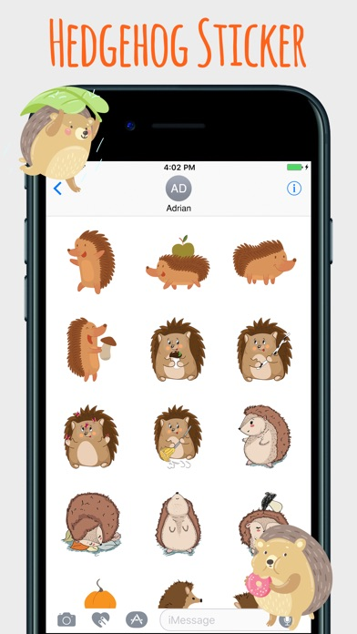 Spiky Hedgehog Stickers - by Himanshu Yadav - Category - AppGrooves ... d2a6c38cf