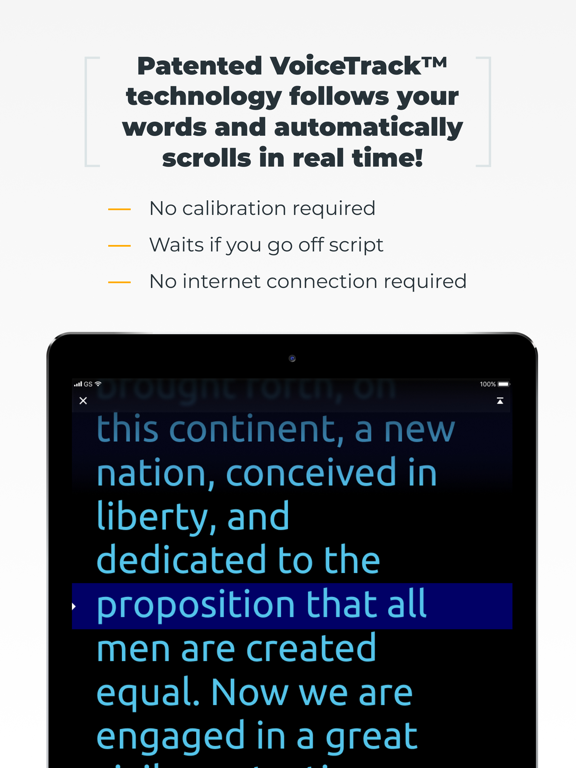 PromptSmart Lite - The Smartest Teleprompter for Public Speaking (English) screenshot