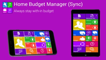 Home Budget Manager Paid Screenshots