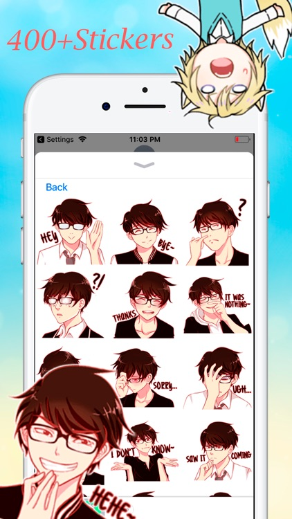 Anime Stickers Collection screenshot-5