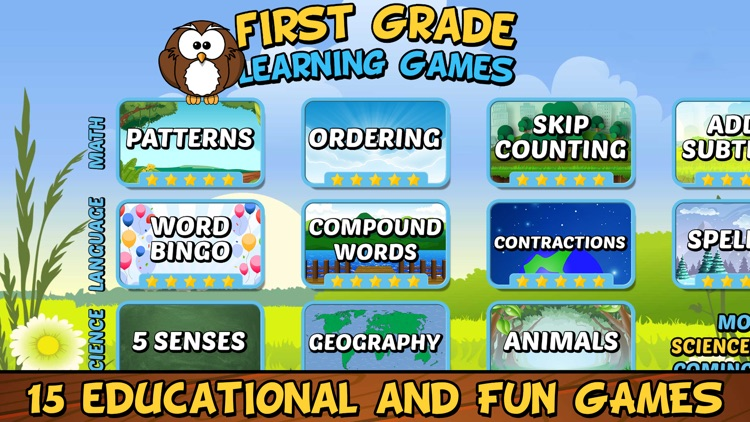 First Grade Learning Games SE screenshot-0