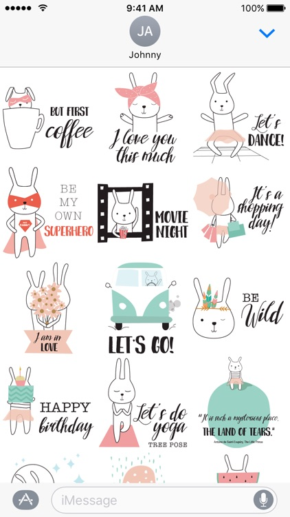 Little Funny Bunny Stickers!