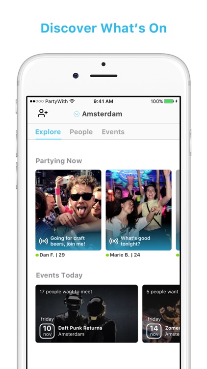 PartyWith - Events & Meetup