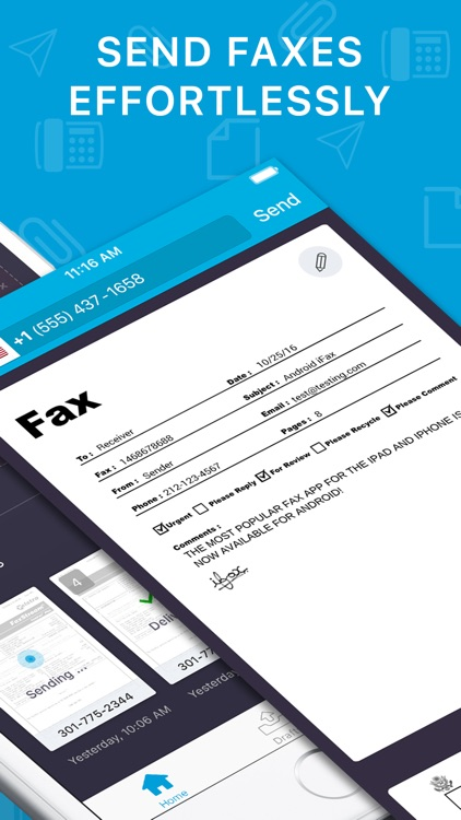 iFax+ instant send fax app screenshot-1