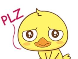 Yellow Baby Chicken Sticker