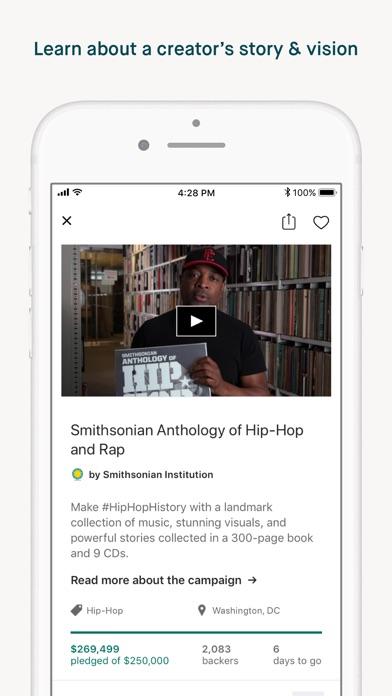 Kickstarter review screenshots