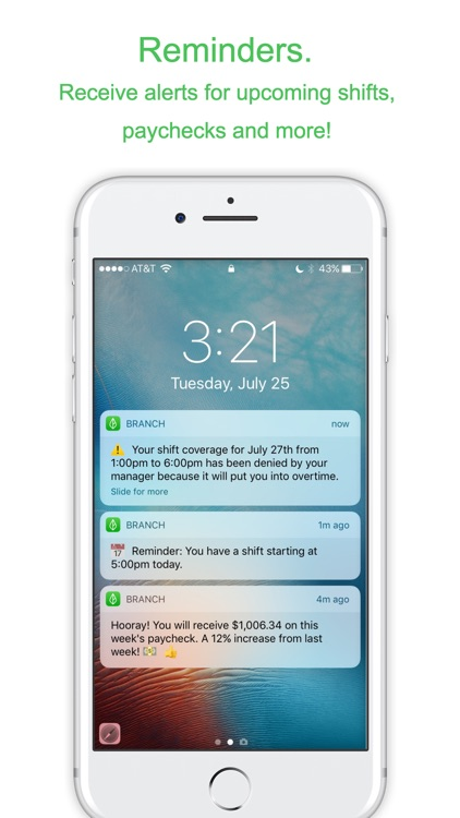 Branch Messenger Work Schedule screenshot-4