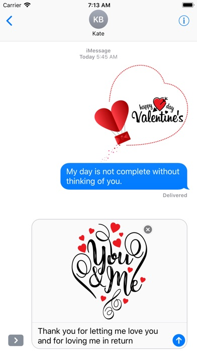 Love & Valentine Message screenshot 2