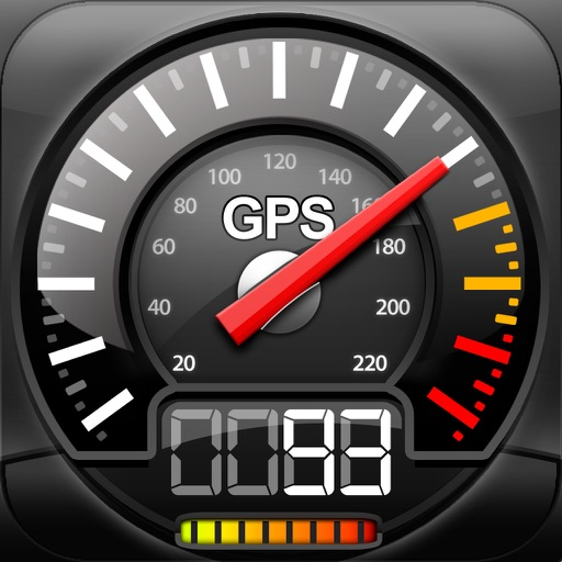 Speedometer GPS+(Car speedometer, Bike cyclometer) app logo