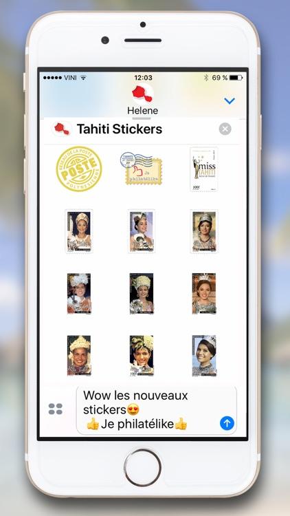 Tahiti Stickers for iMessage screenshot-8