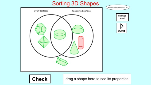 Sorting 3d Shapes Venn Diagram On The App Store